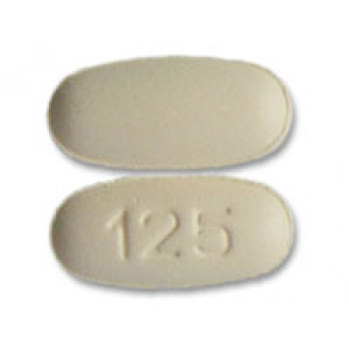 Pictures for orange capsule shape pill imprint 125